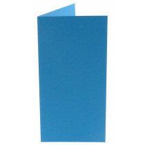 (No. 220965) 50x kaart dubbel staand Original 105x210mm (EA5/6) korenblauw 200 grams