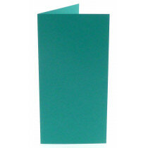 (No. 220966) 50x kaart dubbel staand Original 105x210mm (EA5/6) turquoise 200 grams