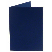 (No. 222969) 50x kaart dubbel staand Original 105x148mm A6 marineblauw 200 grams (FSC Mix Credit)