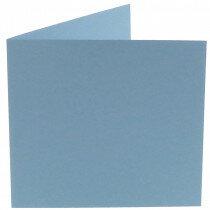(No. 248964) 50x kaart dubbel staand Original 152x152mm lichtblauw 200 grams