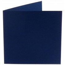 (No. 248969) 50x kaart dubbel staand Original 152x152mm marineblauw 200 grams