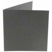 (No. 248971) 50x kaart dubbel staand Original 152x152mm donkergrijs 200 grams