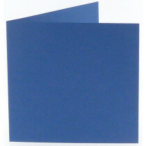 (No. 248972) 50x kaart dubbel staand Original 152x152mm royal blue 200 grams