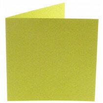 (No. 260970) 50x kaart dubbel Original 132x132mm zachtgroen 200 grams