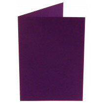 (No. 309968) 6x kaart dubbel staand Original 105x148mm A6 violetta 200 grams (FSC Mix Credit)