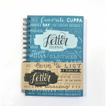 (No. 830106) A5 Bulletjournal 'My Letter Journal' Petrol
