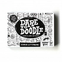 (Art.no. 890065) Dare to Doodle Card-label Neon Set by Paperfuel - 8714677269234