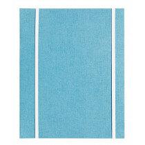"""(Art.no. 920503) Kunstenaarsmap A5 """"MyArtBook"""" Blauw met 2x 6 rings O-Mechaniek en 2 elastieken"""