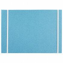 """(Art.no. 920504) Kunstenaarsmap A4 """"MyArtBook"""" Blue met 6 rings O-Mechaniek en 2 elastieken"""