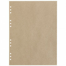(Art.no. 920609) 20 vel MyArtBook Paper 110 GSM Recycling Kraft Fluting Grey Size 314 x 420 mm (A3) - 12 punch holes - perforation