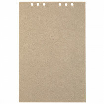 (Art.no. 920709) 20 vel MyArtBook Paper 110 GSM Recycling Kraft Fluting Grey Size 210 x 314 mm (A4) - 6 punch holes - perforation