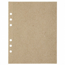 (Art.no. 920809) 20 vel MyArtBook Paper 110 GSM Recycling Kraft Fluting Grey Size 165 x 210 mm (A5) - 6 punch holes - perforation