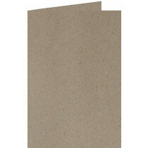 (No. 220322) 50x kaart dubbel staand 105x210mm- DL Recycled Kraft Grijs 220 grams (FSC Recycled Credit)