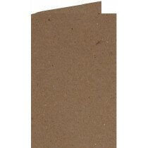 (No. 206323) 50x kaart dubbel staand 148x210mm- A5 Recycled Kraft Bruin 220 grams (FSC Recycled 100%)