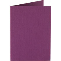 (No. 309909) 6x kaart dubbel staand Original 105x148mmA6 aubergine 200 grams (FSC Mix Credit)