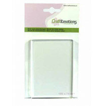 (No. 130501/1911) CraftEmotions blok voor clearstempel 105x74mm - 8mm