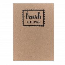 (No. 214400) A4 Oefenblok Brushlettering wit/recyling wit/recycling grijs en marmer grijswit
