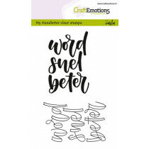 (No. 130501/1822) CraftEmotions clearstamps A6 - handletter - word snel beter (NL)