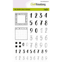 (No. 130501/1710) CraftEmotions clearstamps A6 - Bullet Journal - cijfers 10mm + planner(Eng)