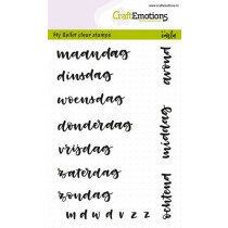 (No. 130501/1705) CraftEmotions clearstamps A6 - Bullet Journal - dagen 10mm (NL)