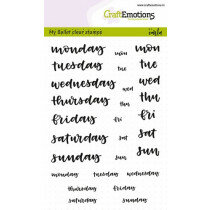 (No. 130501/1702) CraftEmotions clearstamps A6 - Bullet Journal - dagen 5-10mm (Eng)