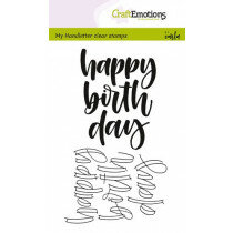 (No. 130501/1807) CraftEmotions clearstamps A6 - happy birthday (Eng)