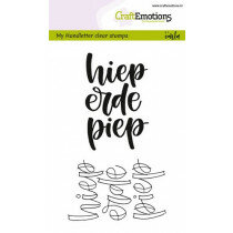 (No. 130501/1824) CraftEmotions clearstamps A6 - handletter - hieperdepiep (NL)