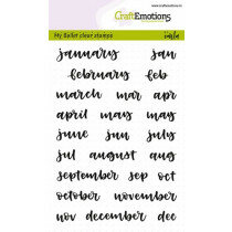 (No. 103501/1703) CraftEmotions clearstamps A6 - Bullet Journal - maanden 10mm (Eng)