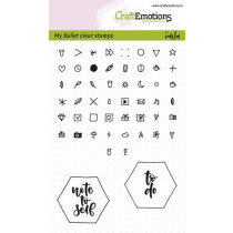 (No. 130501/1708) CraftEmotions clearstamps A6 - Bullet Journal - tekens 5mm