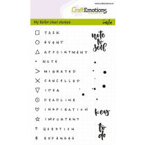 (No. 130501/1709) CraftEmotions clearstamps A6 - Bullet Journal - tekens en tekst 5mm (Eng)