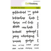 (No. 130501/1707) CraftEmotions clearstamps A6 - Bullet Journal - tekst diverse 5-10mm (NL)
