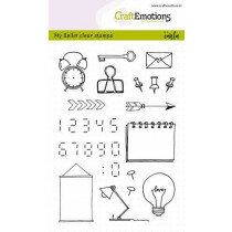 (No. 130501/1753) CraftEmotions clearstamps A6 - My Bullet clear stamps - Carla Kamphuis