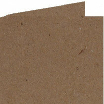 (No. 260323) 50x Dubbele kaart 132x132mm kraft bruin 220 grams (FSC Recycled Credit)