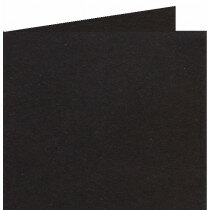(No. 310324) 6x Dubbele kaart 132x132mm kraft zwart 220 grams (FSC Recycled Credit)