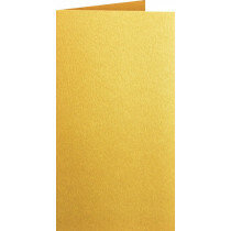 (No. 312333) 3x kaart dubbel staand Original Metallic 105x210mm-A5/6 Super Gold 250 grams