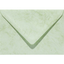 (No. 24167) 50x envelop Marble 125x180mm-B6 appelgroen 90 grams