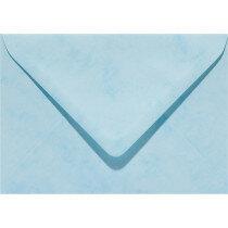 (No. 33065) 6x envelop Marble 125x180mm-B6 hemelsblauw 90 grams