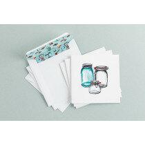 (Art.no. 910022) Set a 3 dubbele kaart/envelop Glasses Style Grocery - Karlijn van de Wier