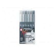(Art.no. XBR6A) KOI Color Brush Set 6 st.