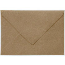 (No. 241323) 50x envelop 125x180mm-B6 Recycling bruin (FSC Recycled 100%)