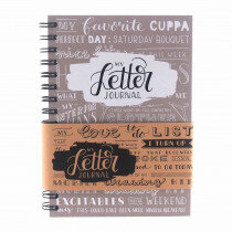 (No. 830103) A5 Bulletjournal 'My Letter Journal' Taupe