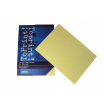 (No. 7138304) 100x papier ToPrint 120gr 210x297mm-A4 Medium yellow(FSC Mix Credit)