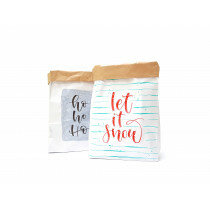 (No. 82105) Set a 2 Small Paperbag Xmas designed by Carla Kamphuis