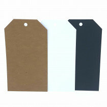(No. 46583100) 10 Papilabels 9x16cm assorti zwart/wit/kraft