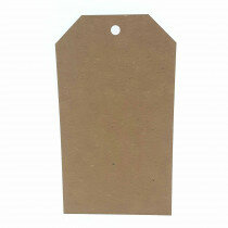 (No. 465323) 10 Papilabels 9x16cm kraft bruin FSC Recycled Credit