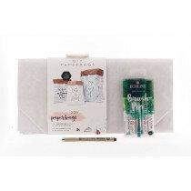 (No. 82202) Set paperbags Interior + fineliner & brushpennen