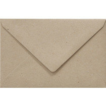 (No. 240322) 50x envelop 160x160mm recycled kraft grijs 100 grams (FSC Recycled 100%)