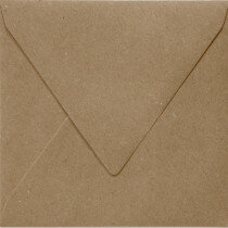 (No. 303323) 6x envelop 140x140mm Recycled Kraft Bruin 100 grams (FSC Recycled Credit)
