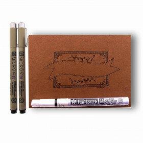 (No. 216802) A6 Oefenblok Handlettering + 3 pennen