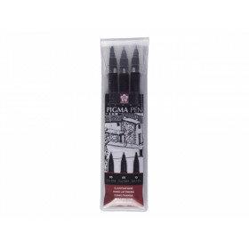 (Art.no. POXFVKP349) Pigma Pen Zwart 3 st.